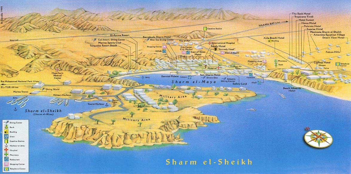 Карта план схема Шарм эль